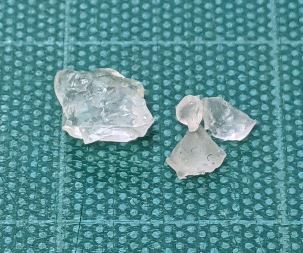 合成したポリブタジエンの結晶