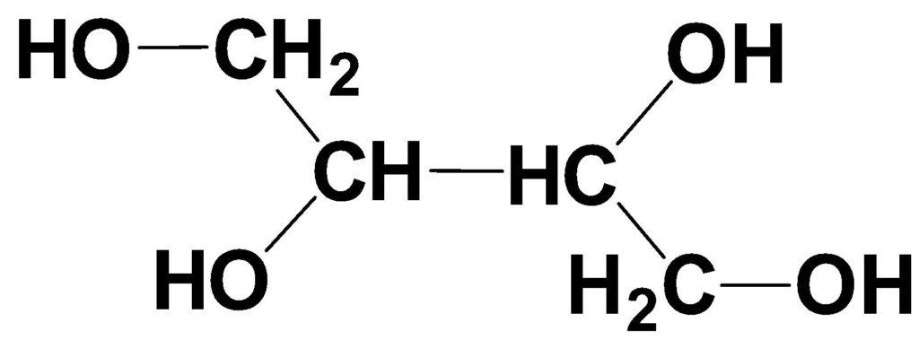 エリスリトールの構造式