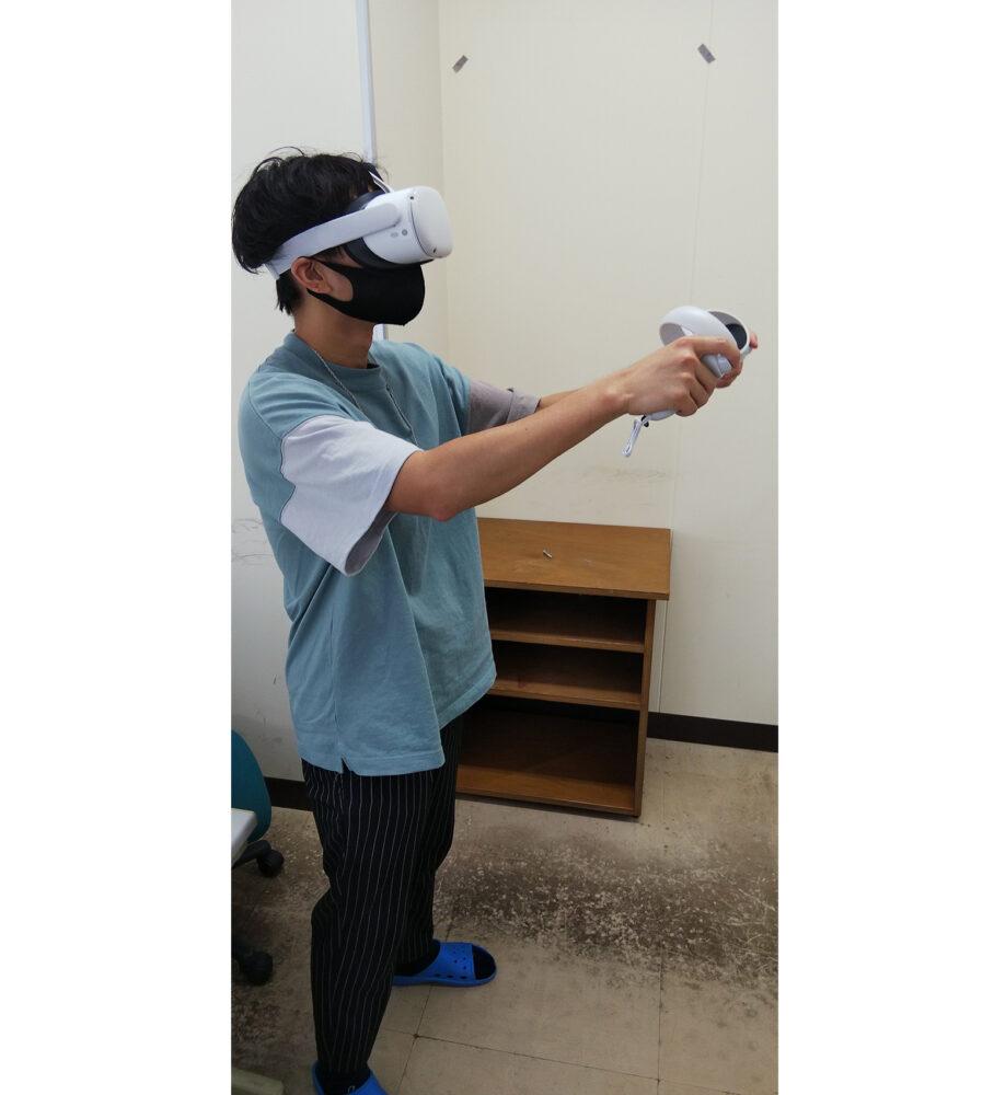 新しい技術を使って実験している様子。