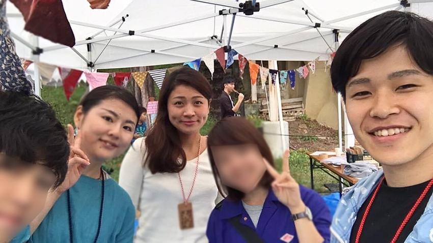 辰野町でのインターンシップ写真。