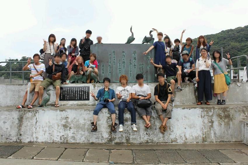 伊豆大島のまちづくりの取り組みに大学時代に取り組んだ。